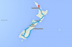 NZ route inital plan